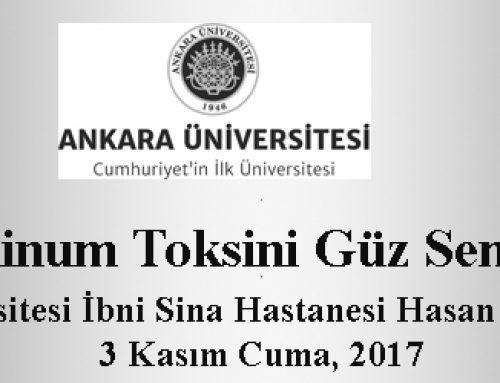 14. Botulinum Toksini Güz Sempozyumu 3 Kasım 2017