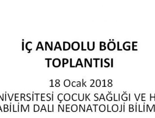 18 Ocak 2018 İç Anadolu Bölge Toplantısı