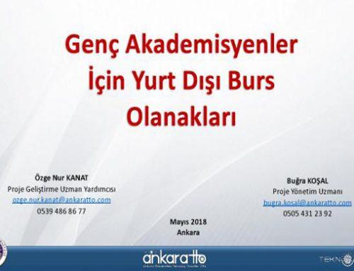 """22 Mayıs 2018 """"Genç Akademisyenler İçin Yurt Dışı Burs Olanakları"""" Sunumu gerçekleştirildi."""