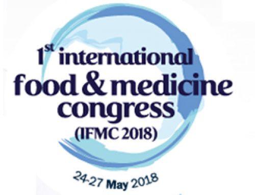 24-27 Mayıs 2018 Uluslararası Gıda ve Tıp Kongresi – 1st International Food and Medicine Congress (IFMC 2018)